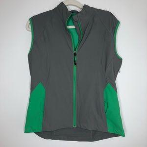 Scott e Vest travel vest gray with green accents
